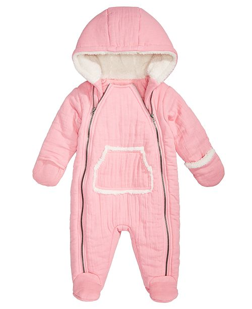 465e4cde5 First Impressions Baby Girls Hooded Snowsuit