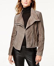 MICHAEL Michael Kors Asymmetrical Suede Moto Jacket