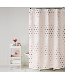 "Saturday Knight Colorful Dot 70"" x 72"" Shower Curtain"