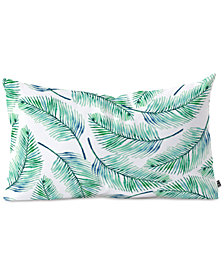 Deny Designs 83 Oranges Palms Watercolor Oblong Throw Pillow