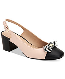 Charter Club Pearla Bow Slingback Pumps, Created for Macy's