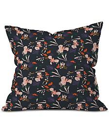 Deny Designs Holli Zollinger Anthology Of Pattern Seville Garden Black Throw Pillow