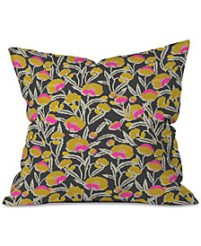 Deny Designs Holli Zollinger Zebrini Floral Mambo Throw Pillow