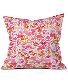 Deny Designs Jacqueline Maldonado Flirt Pink Throw Pillow