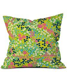 Joy Laforme Flower Bed III Throw Pillow