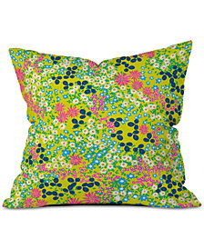 Deny Designs Joy Laforme Flower Bed III Throw Pillow