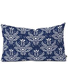 Deny Designs Marta Barragan Camarasa Indigo Watercolor Oblong Throw Pillow