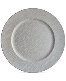 Jay Imports American Atelier Gray Charger Plate