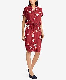 Lauren Ralph Lauren Petite Floral-Print Dolman-Sleeve Dress
