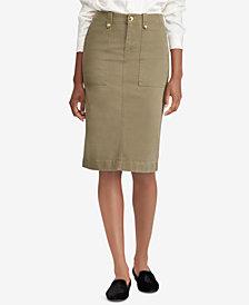 Lauren Ralph Lauren Petite Chino Skirt