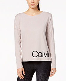 Calvin Klein Performance Logo Relaxed Cropped T-Shirt