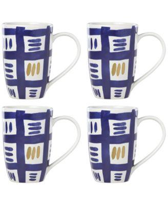 Lenox-Wainwright Pompeii Blu Sky 4-Pc. Mug Set, Created for Macy's