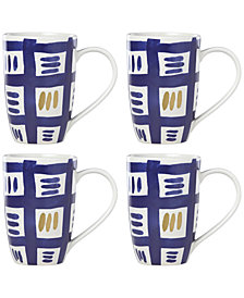 Lenox-Wainwright Pompeii Blu Sky 4-Pc. Mug Set, Created for Macy's