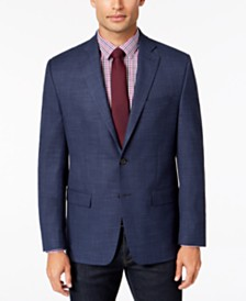 Lauren Ralph Lauren Men's Classic-Fit Ultra Flex Stretch Blue Plaid Sport Coat