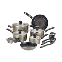 14-Piece T-Fal Cook-N-Strain Non-Stick Cookware Set