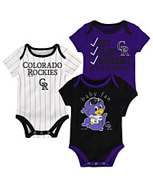 Outerstuff Colorado Rockies Play Ball 3-Piece Set, Infants (0-9 Months)