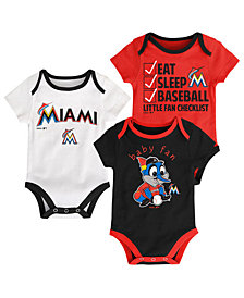 Outerstuff Miami Marlins Play Ball 3-Piece Set, Infants (0-9 Months)