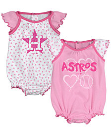 Outerstuff Houston Astros Heart Creeper Set, Infants (0-9 Months)