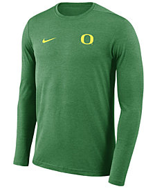 Nike Men's Oregon Ducks Long Sleeve Dri-Fit Coaches T-Shirt