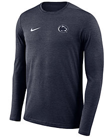Nike Men's Penn State Nittany Lions Long Sleeve Dri-Fit Coaches T-Shirt