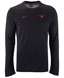Nike Men's Texas Longhorns Long Sleeve Dri-Fit Coaches T-Shirt