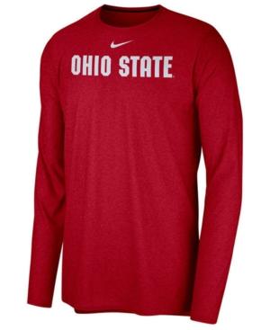 image of Nike Men-s Ohio State Buckeyes Long Sleeve Player T-shirt