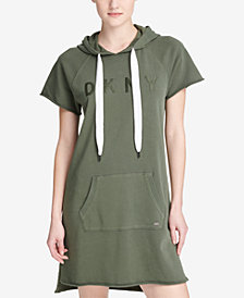 DKNY Sport Logo Hooded Sweatshirt Dress, Created for Macy's
