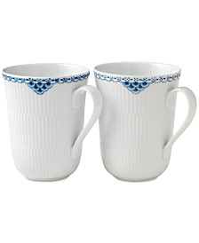 Royal Copenhagen Princess Mugs, Set of 2