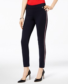 Tommy Hilfiger Side-Stripe Skinny Ponte Pants