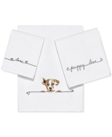 ED Ellen DeGeneres Puppy Love Cotton Embroidered Towel Collection