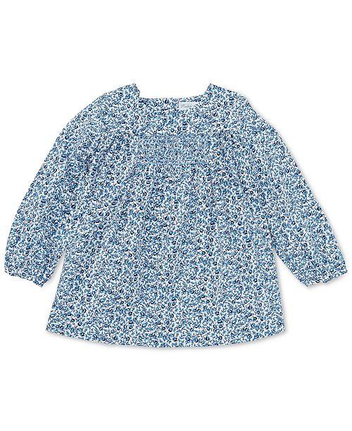 Polo Ralph Lauren Ralph Lauren Baby Girls Smocked Floral Cotton Top