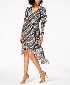 Taylor Plaid High-Low Dress