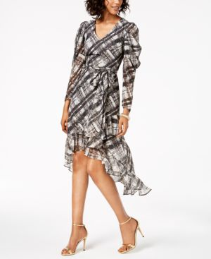 PLAID HIGH-LOW DRESS