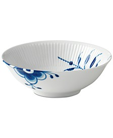 Blue Fluted Mega Cereal Bowl