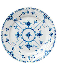 Royal Copenhagen Blue Fluted Half Lace Dessert Plate