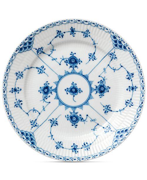 Royal Copenhagen Blue Fluted Half Lace Dessert Plate