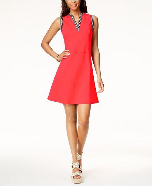 bc0ec00bf45b Tommy Hilfiger Striped-Trim Dress