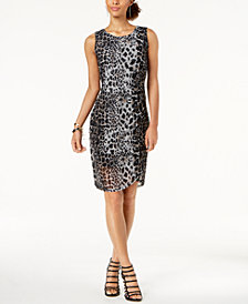 Love Scarlett Petite Printed Mesh Dress