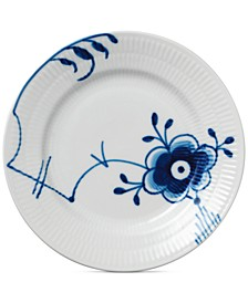 Blue Fluted Mega Bread & Butter Plate #6