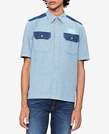 Calvin Klein Jeans Men's Two-Tone Denim Shirt