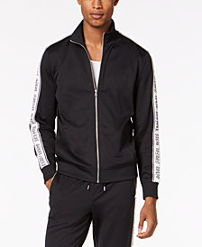 I.N.C. Men's Striped-Sleeve Track Jacket, Creat