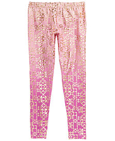 Epic Threads Big Girls Foil-Print Leggings, Created for Macy's