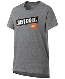 Nike Big Girls Just Do It-Print Cotton T-Shirt
