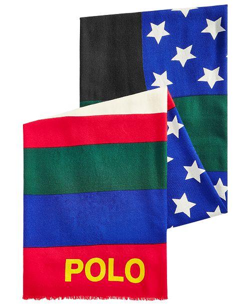 ccf63f53e94 Polo Ralph Lauren Men s Wool Downhill Skier Scarf   Reviews - Hats ...