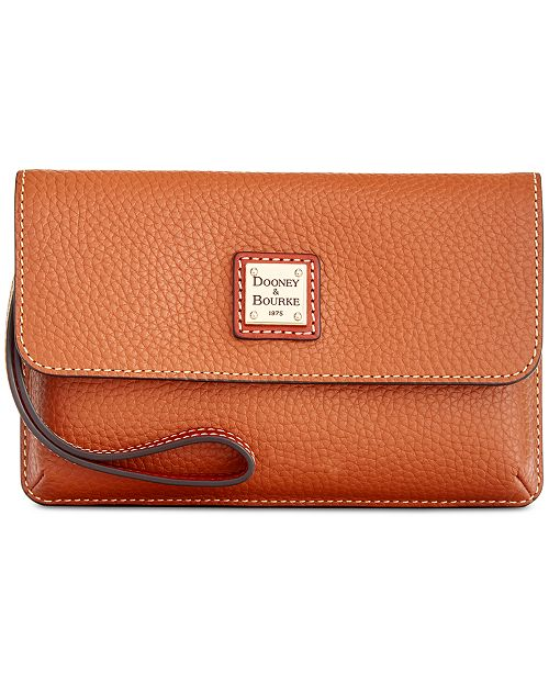 Dooney & Bourke Milly Pebble Leather Wristlet