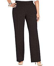 JM Collection Plus Size Curvy-Fit Straight-Leg Pants, Created for Macy's