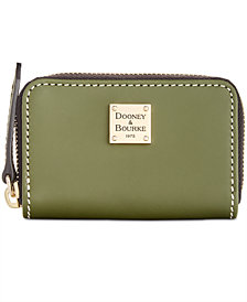 Dooney & Bourke Beacon Zip Around Smooth Leather Credit Card Case