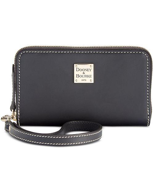 Dooney & Bourke Beacon Zip Around Smooth Leather Wristlet