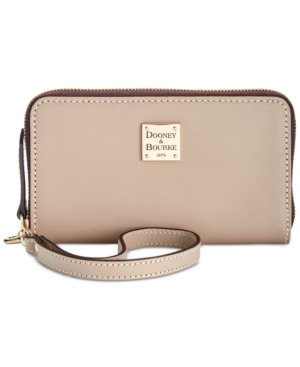 Image of Dooney & Bourke Beacon Zip Around Smooth Leather Wristlet