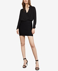 BCBGMAXAZRIA Draped Long-Sleeve Blouse